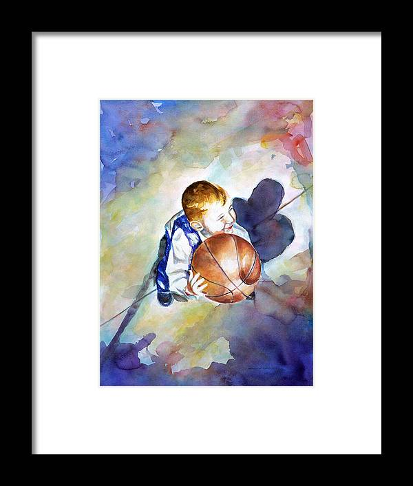Watercolor Framed Print featuring the painting Loves the Game by Shannon Grissom