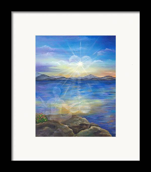 Landscape Framed Print featuring the painting Loving Thyself by Sundara Fawn