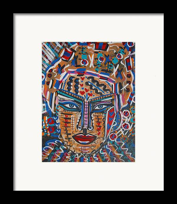 Abstract Framed Print featuring the painting Loviola by Natalie Holland
