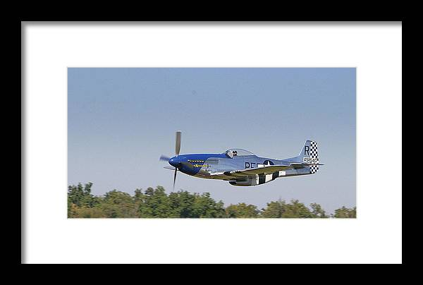 P-51 Framed Print featuring the photograph Low Flyer by Donald Tusa