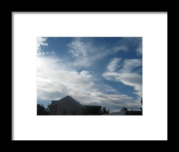 Framed Print featuring the mixed media Low Sky by Jennifer Wall