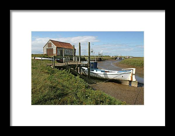 Thornham Framed Print featuring the photograph Low Tide At Thornham by Mike Bambridge