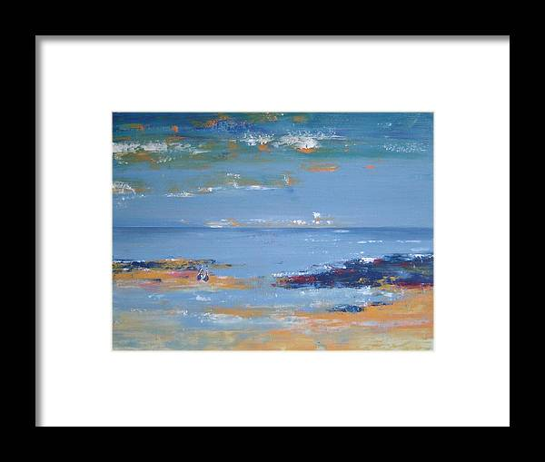 Seascape Framed Print featuring the painting Low Tide by Bridgette Allan