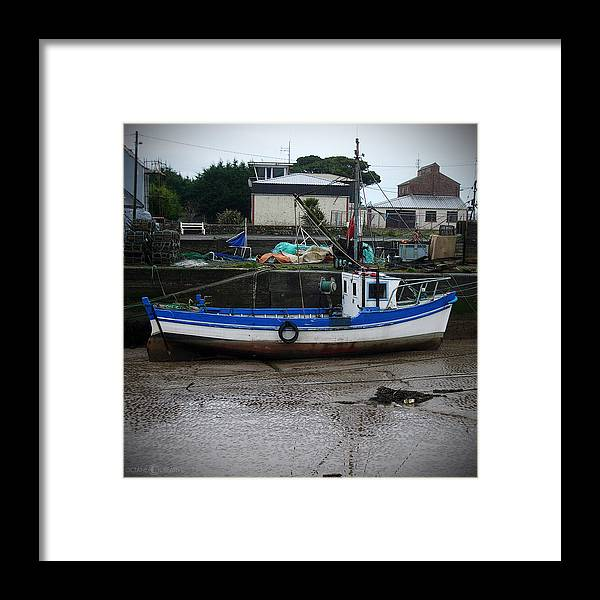 Boat Framed Print featuring the photograph Low Tide by Tim Nyberg