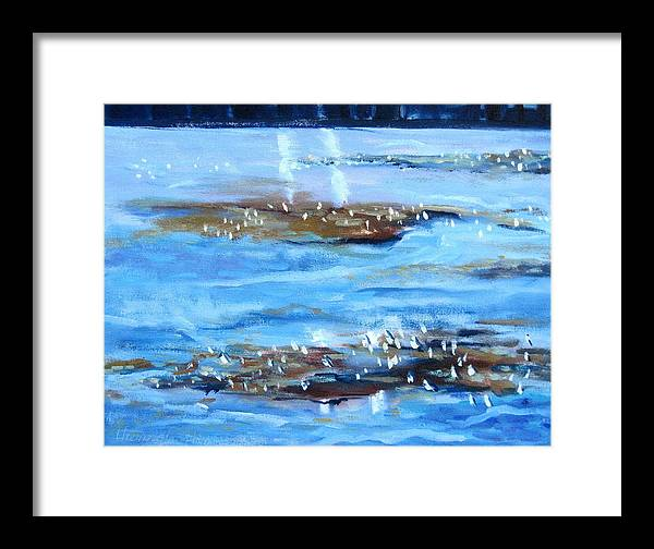 Tides Framed Print featuring the painting Low Tide by Thomas Glass Phinnessee