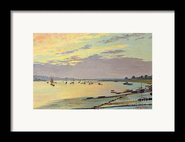 Low Framed Print featuring the painting Low Tide by W Savage Cooper