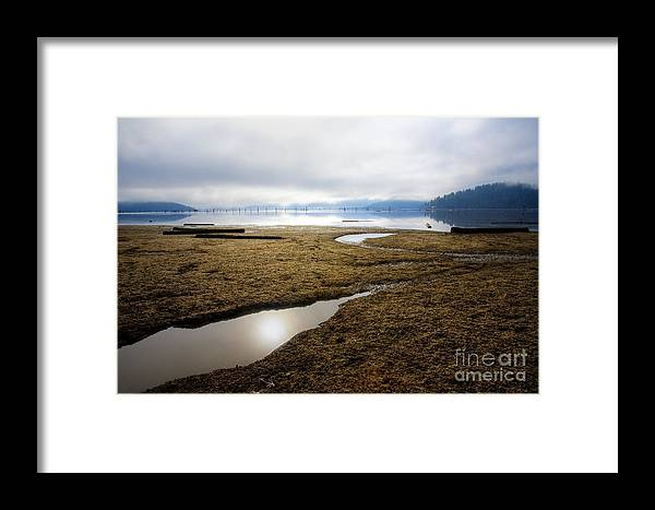 Wtaer Framed Print featuring the photograph Low Water by Idaho Scenic Images Linda Lantzy