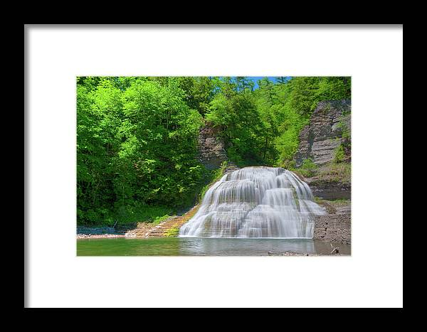 Waterfalls Framed Print featuring the photograph Lower Falls 0485 by Guy Whiteley