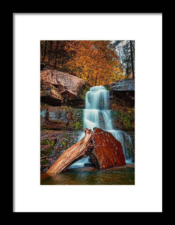 Autumn Framed Print featuring the photograph Lower Falls At Kaaterskill by Rick Berk