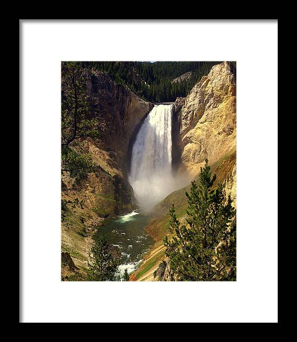 Waterfall Framed Print featuring the photograph Lower Falls by Marty Koch