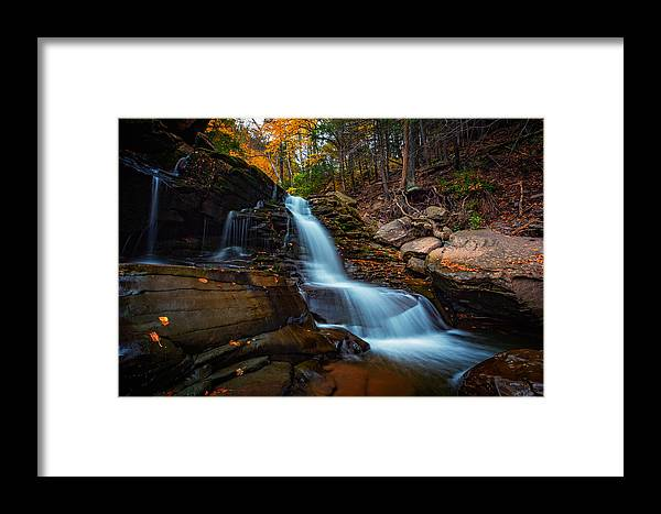 Autumn Framed Print featuring the photograph Lower Kaaterskill Falls by Rick Berk