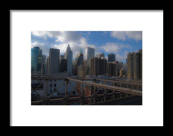 New York City Framed Print featuring the photograph Lower Manhattan by Patrick Flynn