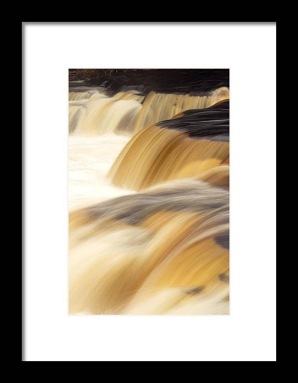 Water Framed Print featuring the photograph Lower Tahquemenon Falls by Amanda Kiplinger