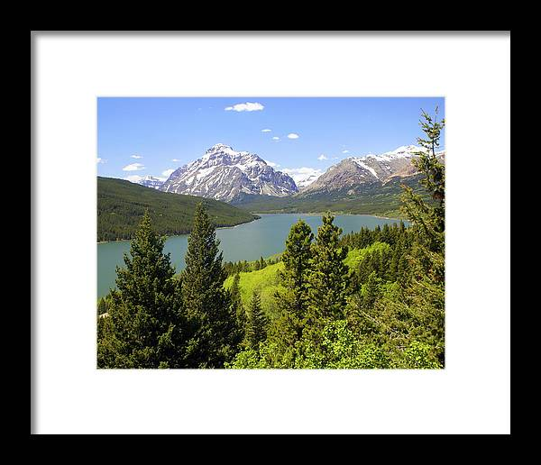 Two Medicine Lake Framed Print featuring the photograph Lower Two Medicine Lake by Marty Koch