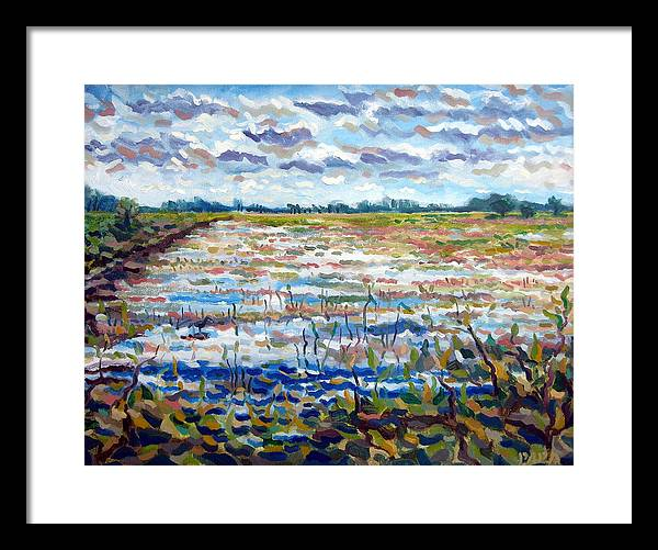 Loxahatchee Framed Print featuring the painting Loxahatchee Wetlands by Ralph Papa