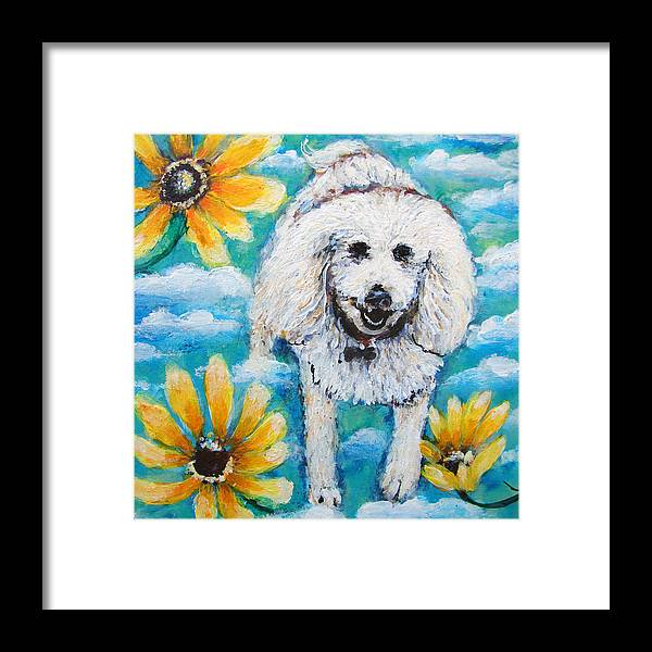 Dog Framed Print featuring the painting Luca by Ashleigh Dyan Bayer