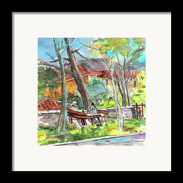 Italy Framed Print featuring the painting Lucca In Italy 04 by Miki De Goodaboom
