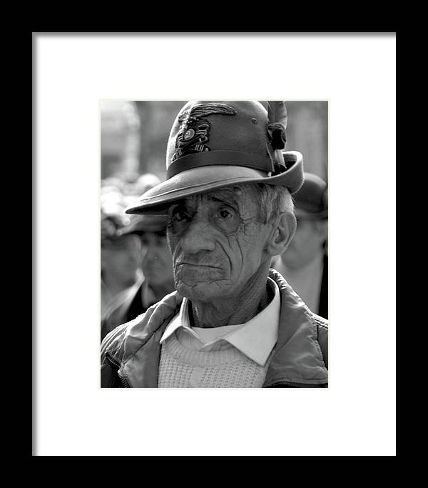 People Framed Print featuring the photograph Lucca Verteran by Michael Riley