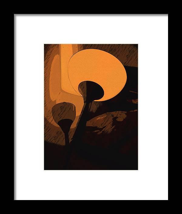 Lamp Framed Print featuring the digital art Luce by Tila Gun