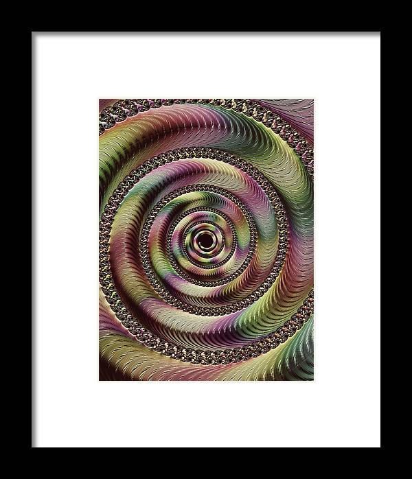 Lucid Hypnosis Abstract Framed Print featuring the digital art Lucid Hypnosis Abstract Wall Art by Georgiana Romanovna