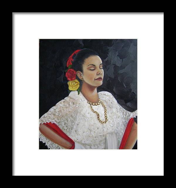 Framed Print featuring the painting Lucinda by Toni Berry