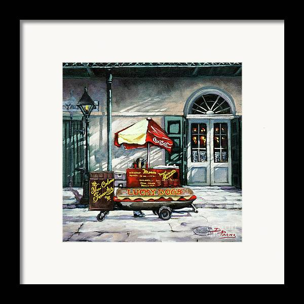 Lucky Dogs Framed Print featuring the painting Lucky Dogs by Dianne Parks