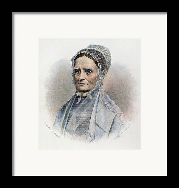 19th Century Framed Print featuring the photograph Lucretia Coffin Mott by Granger