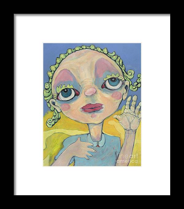 Blue Framed Print featuring the painting Lulu by Michelle Spiziri