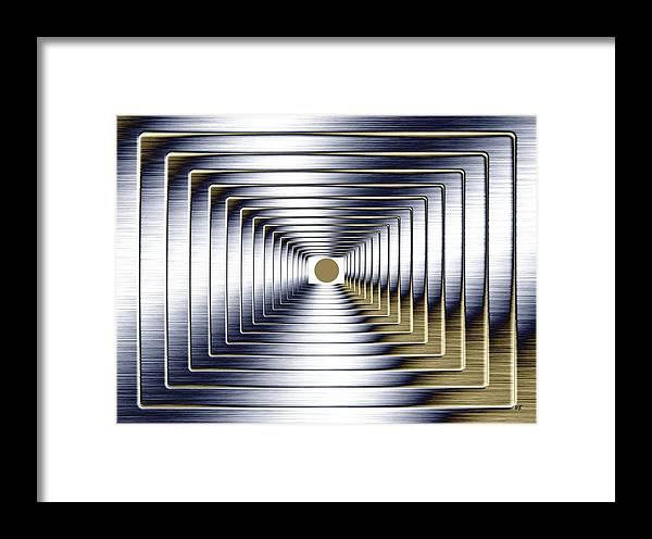 Abstract Framed Print featuring the digital art Luminous Energy 1 by Will Borden