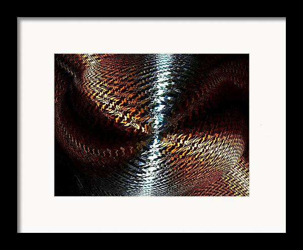 Abstract Framed Print featuring the digital art Luminous Energy 10 by Will Borden