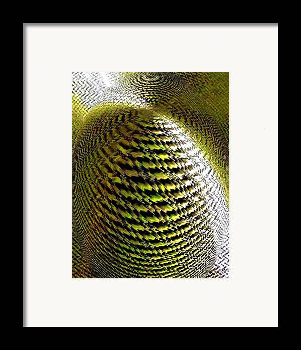 Abstract Framed Print featuring the digital art Luminous Energy 11 by Will Borden