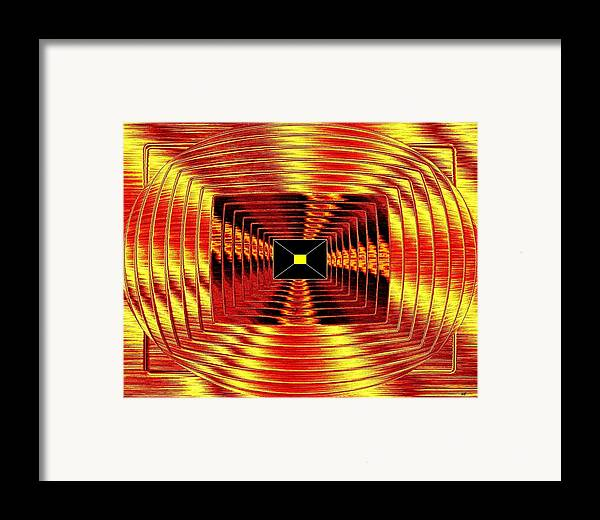 Abstract Framed Print featuring the digital art Luminous Energy 12 by Will Borden