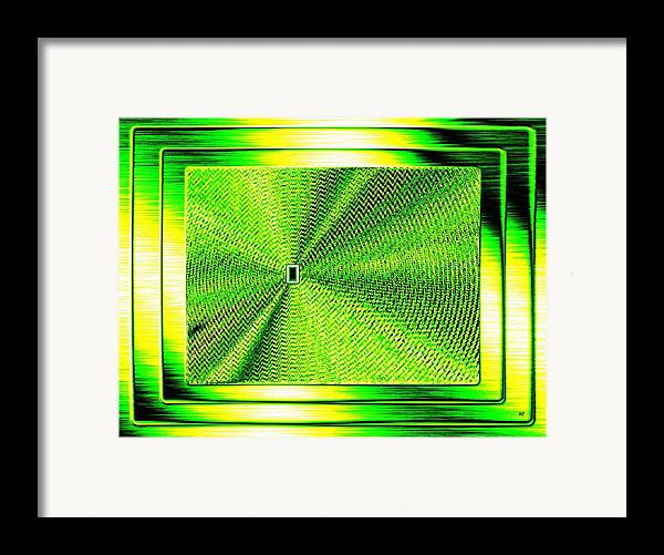 Abstract Framed Print featuring the digital art Luminous Energy 14 by Will Borden