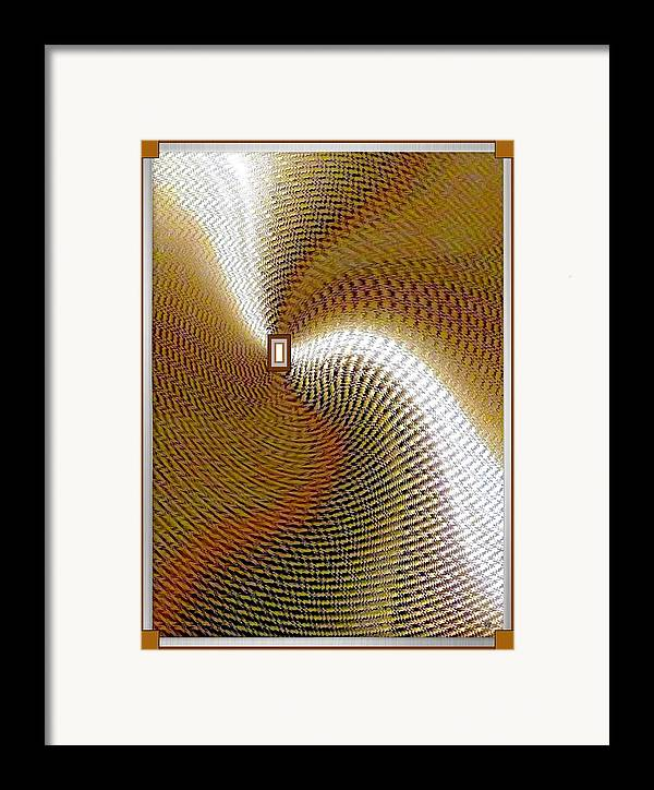 Abstract Framed Print featuring the digital art Luminous Energy 16 by Will Borden