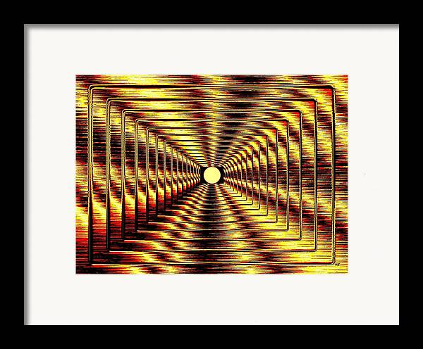 Abstract Framed Print featuring the digital art Luminous Energy 2 by Will Borden