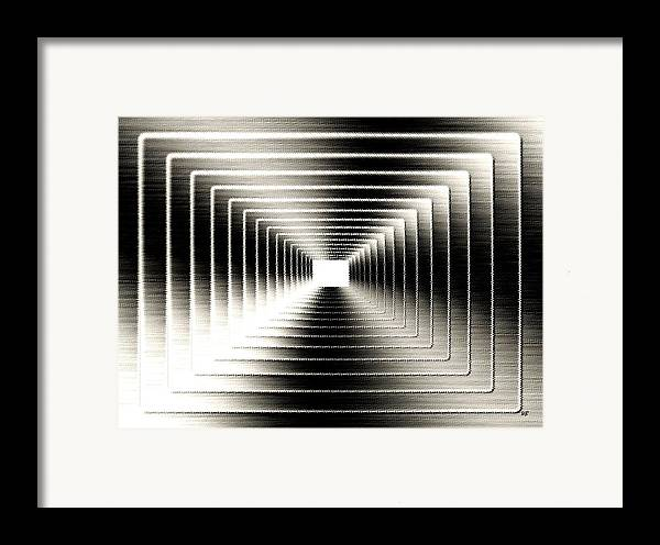 Abstract Framed Print featuring the digital art Luminous Energy 3 by Will Borden