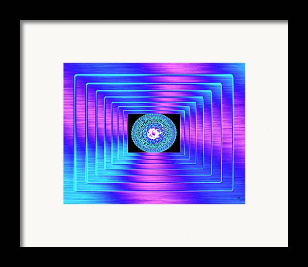 Abstract Framed Print featuring the digital art Luminous Energy 9 by Will Borden