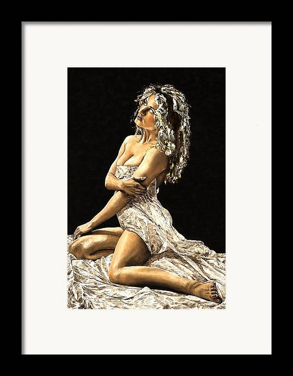 Nude Framed Print featuring the painting Luminous by Richard Young