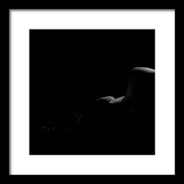 Female Framed Print featuring the photograph Luna Feminatis 1 by Dario Infini