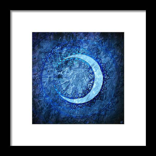 Moon Framed Print featuring the digital art Luna by Kenneth Armand Johnson