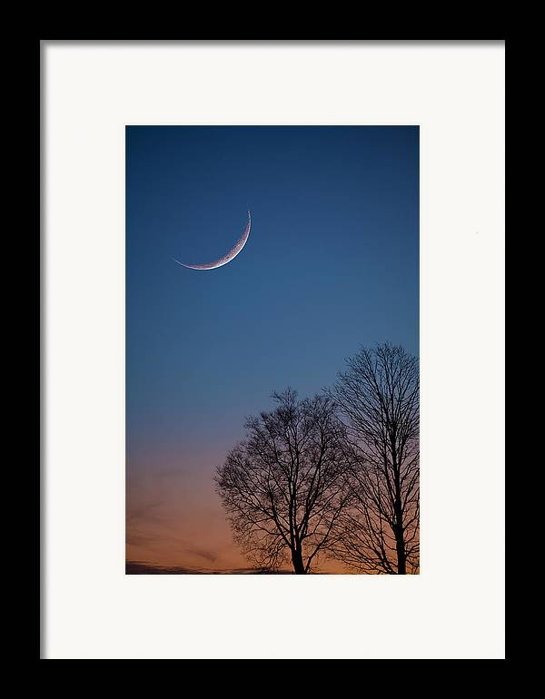 Moon Framed Print featuring the photograph Lunacy by Charles Warren