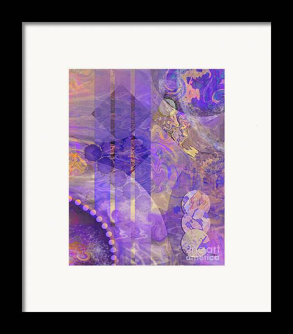 Lunar Impressions 2 Framed Print featuring the digital art Lunar Impressions 2 by John Beck