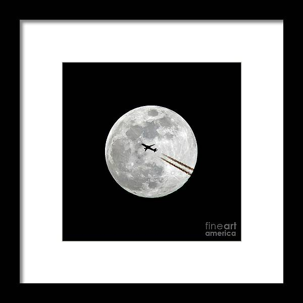 Moon Framed Print featuring the photograph Lunar Silhouette Series 2 Of 3 by Kevin McCarthy