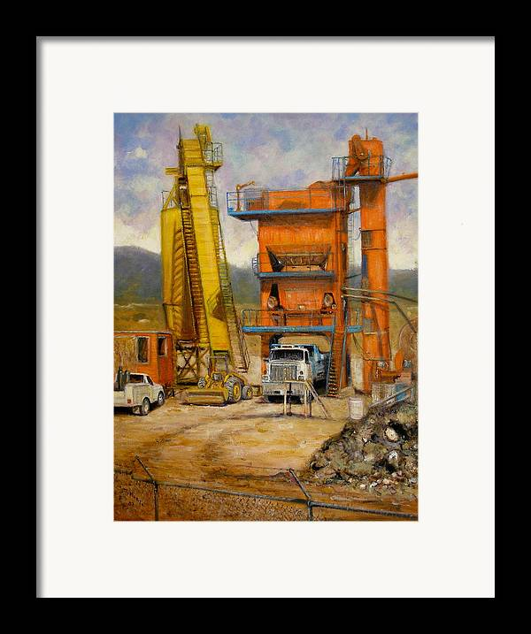 Realism Framed Print featuring the painting Lunch Break by Donelli DiMaria
