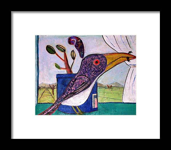 Bird Framed Print featuring the mixed media Lunch by Dave Kwinter