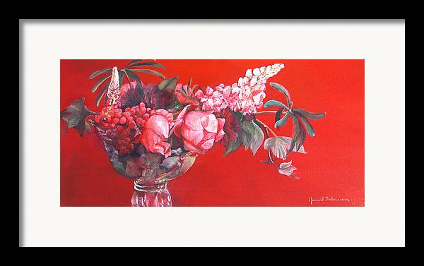 Floral Painting Framed Print featuring the painting Lupin by Muriel Dolemieux