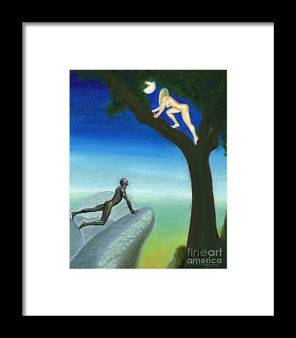 Landscape Framed Print featuring the painting Lupo Et Felicia Reve by Juan Romagosa