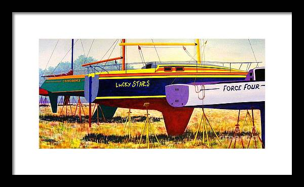 Blue Framed Print featuring the painting Lure Of The Sea by Hugh Harris