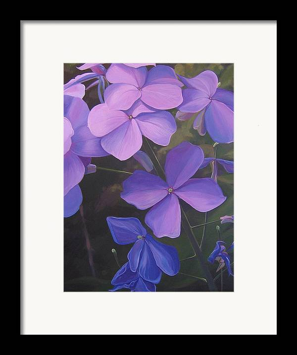 Closeup Of Colorado Wildflower Near Durango Framed Print featuring the painting Lush Life by Hunter Jay