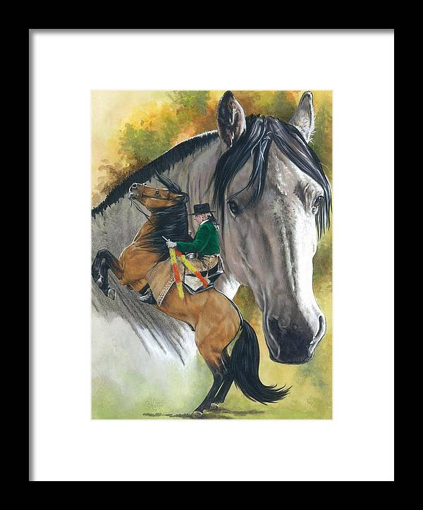 Hoof Stock Framed Print featuring the mixed media Lusitano by Barbara Keith
